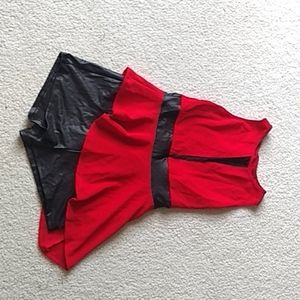 Like-New Red and Black Dance Costume